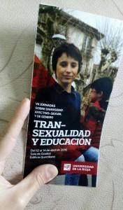 Transexualidad y educacion triptico